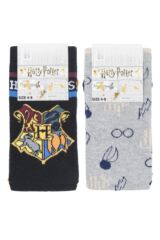 Ladies SOCKSHOP 2 Pair Harry Potter Hogwarts and Golden Snitch Cotton Socks Packaging Image