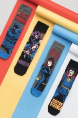 Mens SockShop 4 Pair Marvel Hawkeye, Black Widow, Black Panther and Doctor Strange Cotton Socks Leading Image