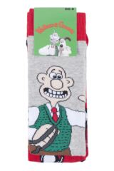 Mens 2 Pair SOCKSHOP Wallace and Gromit Cotton Socks Packaging Image