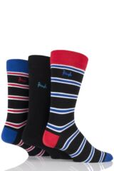 Mens 3 Pair Pringle Kentallen Double Stripe Cotton Socks