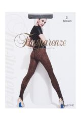 Ladies 1 Pair Trasparenze Leone Animal Print Back Bow Tights Packaging Image
