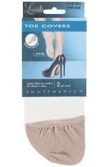 Ladies 2 Pair Levante Toe Covers Packaging Image