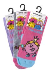 Ladies 3 Pair TM Little Miss Character Socks Packaging Image