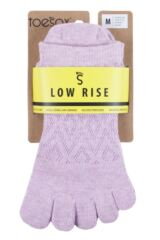 Ladies 1 Pair ToeSox Low Rise Full Toe Diamond Socks Packaging Image