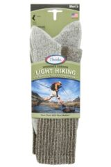 Mens 1 Pair Thorlos Light Hiking Moderate Cushion Socks With Thorlon Packaging Image