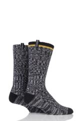 Mens 2 Pair Pringle of Scotland Marl Knit Boot Socks