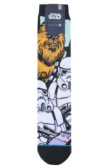 Mens 1 Pair Stance Star Wars Warped Chewbacca Cotton Blend Socks Packaging Image