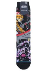 Mens 1 Pair Stance Star Wars Warped Pilot Cotton Blend Socks Packaging Image