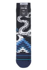 Mens 1 Pair Stance Crotalus Crew Cotton Socks Packaging Image
