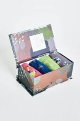 Mens 4 Pair Thought Soccer Bamboo and Organic Cotton Socks in Gift Box Leading Image