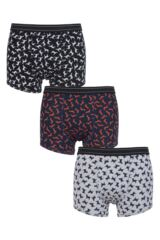 Mens 3 Pack Thought Dog Design Bamboo and Organic Cotton Boxer Shorts in Gift Box
