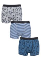 Mens 3 Pack Thought High in the Sky Bamboo Boxers Gift Box Leading Image