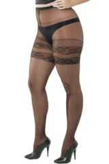 Ladies 1 Pair Trasparenze Curvy Margherita Sheer Mock Hold Up Tights 50% OFF