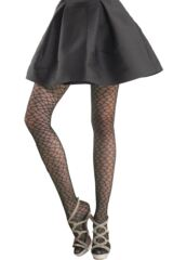 Ladies 1 Pair Trasparenze Mariposa Wave Fishnet Tights