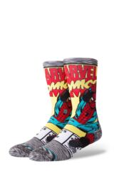 Mens 1 Pair Stance Marvel Spiderman Comic Cotton Blend Socks Leading Image