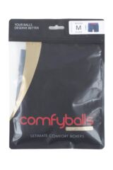 Mens 1 Pair Comfyballs Longer Leg Sports Performance Boxer Shorts Packaging Image