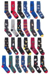 Mens 25 Pair SOCKSHOP Wild Feet Christmas Advent Calendar Socks Leading Image