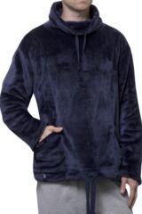 Mens SockShop Heat Holders Snugover Fleece Jumper In Navy