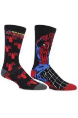 Mens 2 Pair SockShop Marvel The Amazing Spider-Man Cotton Socks
