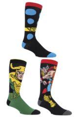 Mens 3 Pair SockShop Marvel Thor and Loki Cotton Socks