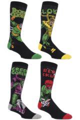 Mens 4 Pair SockShop Marvel Villains Doctor Octopus, Green Goblin, Red Skull and Loki Cotton Socks
