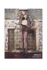 Ladies 1 Pair Trasparenze Merlot Large Net Strip Panty Tights Packaging Image