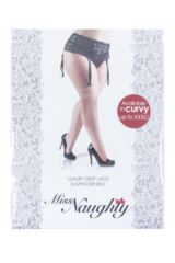 Ladies 1 Pack Miss Naughty Deep Lace Suspender Belt - Up to XXXL Packaging Image