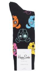 Mens and Ladies 1 Pair Happy Socks Dog and Cat Combed Cotton Socks Packaging Image