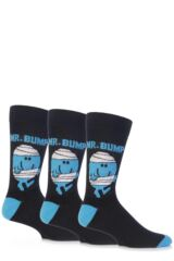 Mens 3 Pair TM Mr. Men Character Socks
