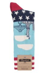 Mens 1 Pair Moustard New York Cotton Socks Product Shot
