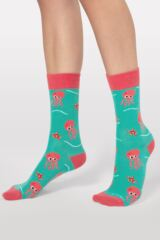 Mens and Ladies 1 Pair Moustard Sea Life Collection Octopus Cotton Socks Leading Image