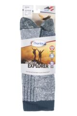 Mens and Ladies 1 Pair Thorlo Outdoor Explorer Walking Socks Packaging Image