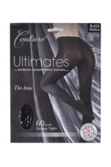 Ladies 1 Pair Couture by Silky Ultimates Seamless and Ladder Proof 60 Denier Opaque Tights Packaging Image