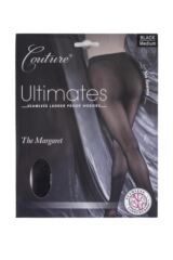 Ladies 1 Pair Couture by Silky Ultimates Seamless and Ladder Proof Opaque Ribbed Tights Packaging Image