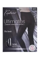 Ladies 1 Pair Couture by Silky Ultimates Seamless and Ladder Proof 100 Denier Opaque Tights Packaging Image