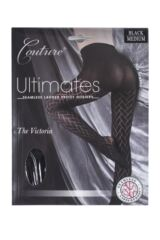 Ladies 1 Pair Couture by Silky Ultimates Seamless and Ladder Proof Geometric Opaque Tights Packaging Image