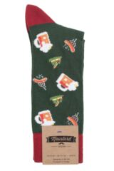 Mens 1 Pair Moustard Oktoberfest Cotton Socks Packaging Image