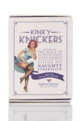 Ladies 1 Pair Kinky Knickers 'Silver & Oyster' Scallop Edge Lace 'Classic' Knicker Packaging Image
