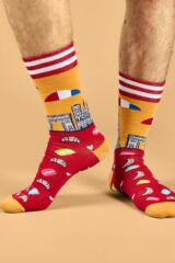 Mens 1 Pair Moustard Paris Cotton Socks Leading Image