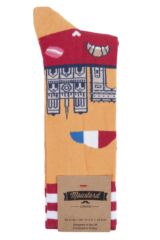 Mens 1 Pair Moustard Paris Cotton Socks Packaging Image