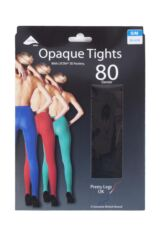 Ladies 1 Pair Pretty Legs 80 Denier Luxury Opaque Tights Packaging Image