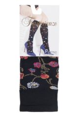 Ladies 1 Pair Trasparenze Platino Floral Knit Opaque Knee High Socks Packaging Image