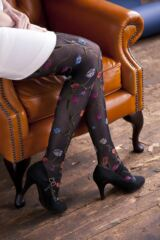 Ladies 1 Pair Trasparenze Platino Floral Knit Opaque Tights Leading Image