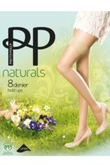 Ladies 1 Pair Pretty Polly Naturals 8 Denier Hold Ups Packaging Image