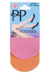 Ladies 2 Pair Pretty Polly Colourful Footsies Packaging Image