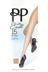 Ladies 1 Pair Pretty Polly 15 Denier 100% Nylon Pretty Cool Open Gusset Tights Packaging Image