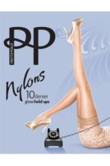 Ladies 1 Pair Pretty Polly Nylons - Lace Top Hold Ups Packaging Image