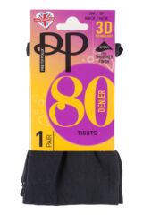 Ladies 1 Pair Pretty Polly 80 Denier Opaque Tights with 3D Stretch Technology Product Shot