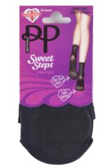 Ladies 1 Pair Pretty Polly Sweet Steps 60 Denier Opaque Ankle Highs with Odour Control Product Shot