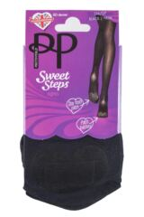 Ladies 1 Pair Pretty Polly Sweet Steps 60 Denier Opaque Tights with Odour Control Product Shot